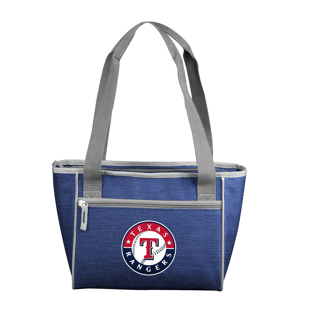 Logo Brand Texas Rangers Crosshatch 16-Can Cooler Tote