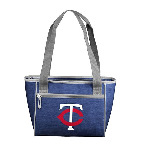 Logo Brand Minnesota Twins Crosshatch 16-Can Cooler Tote