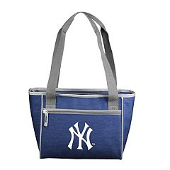 Logo Brand New York Yankees Crosshatch 16-Can Cooler Tote