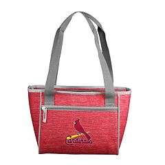 Logo Brand St. Louis Cardinals Crosshatch 16-Can Cooler Tote