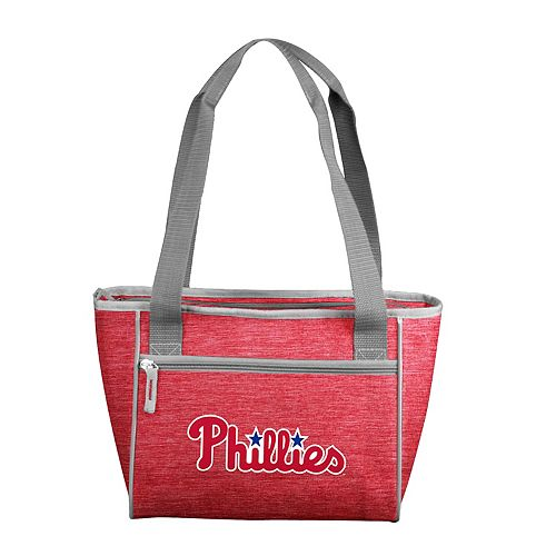 Logo Brand Philadelphia Phillies Crosshatch 16-Can Cooler Tote