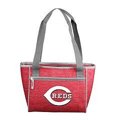 Logo Brand Cincinnati Reds Crosshatch 16-Can Cooler Tote