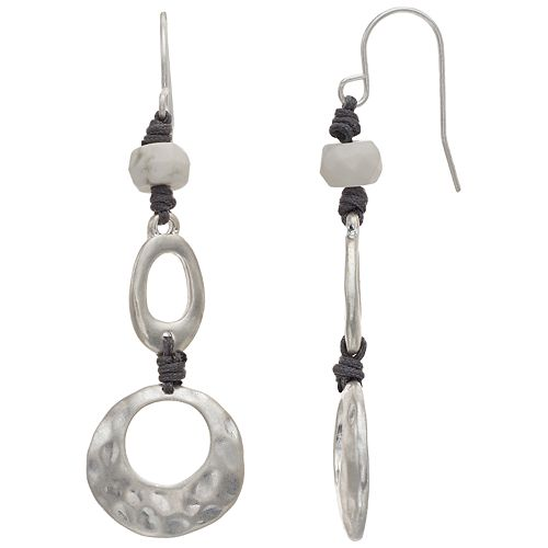 Bella Uno Tiered Howlite Drop Earrings