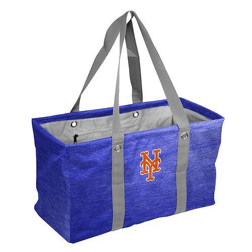 Logo Brand New York Mets Crosshatch Picnic Caddy