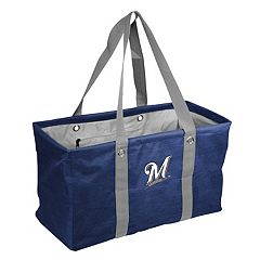 Logo Brand Milwaukee Brewers Crosshatch Picnic Caddy