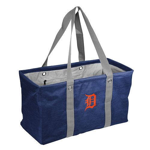 Logo Brand Detroit Tigers Crosshatch Picnic Caddy