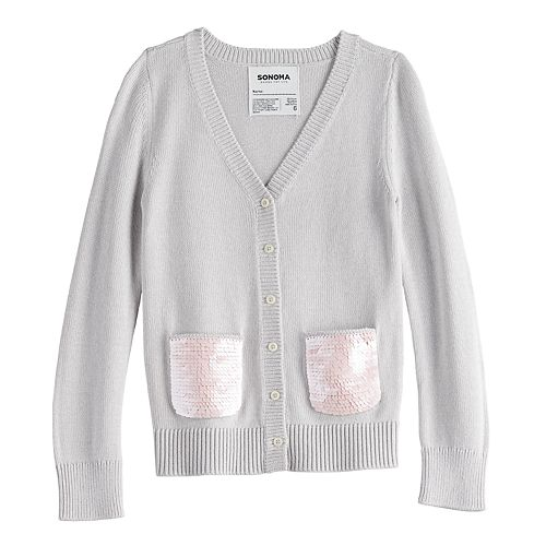 Girls 4-12 SONOMA Goods for Life™ Sequined Cardigan