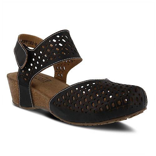 L`Artiste by Spring Step Women's Leather Ankle Strap Sandal-Poppiri