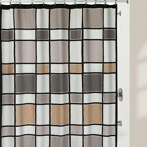 Creative Bath Colorblock Shower Curtain