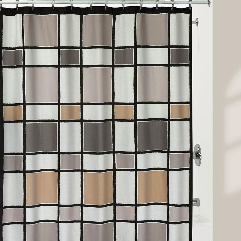 Creative Bath Colorblock Shower Curtain, 72X72