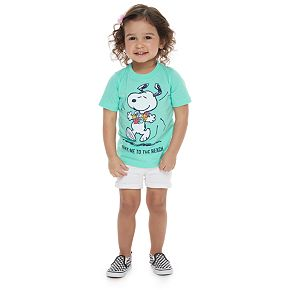 Baby Family Fun Peanuts Snoopy Waves & Rays Graphic Tee