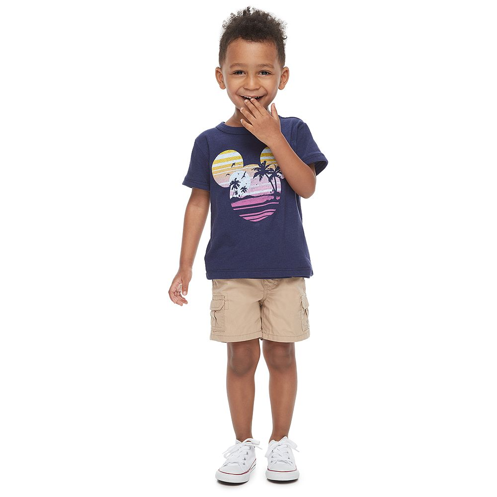 Disney's Mickey Mouse Toddler Boy Navy Blue Graphic Tee by Family Fun™