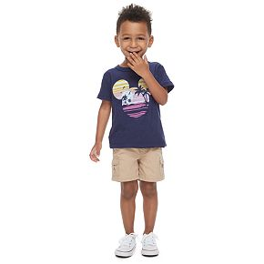 Disney's Mickey Mouse Toddler Boy Navy Blue Graphic Tee by Family Fun?