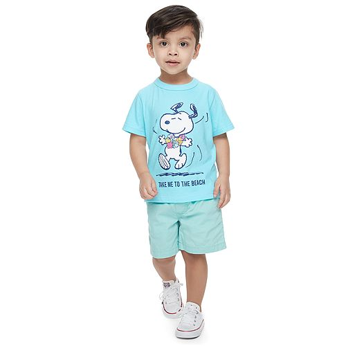 Toddler Boy ​Family Fun™ Peanuts Snoopy Waves & Rays Graphic Tee