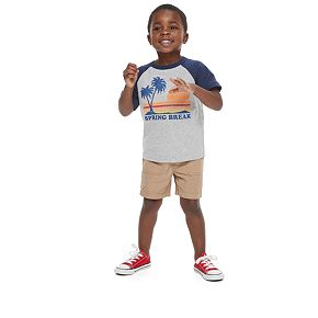 "Toddler Boy ?Family Fun? ""Spring Break"" Graphic Tee"