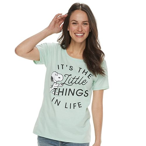 """Women's Family Fun™ Mommy & Me Peanuts Snoopy """"It's The Little Things"""" Graphic Tee"""