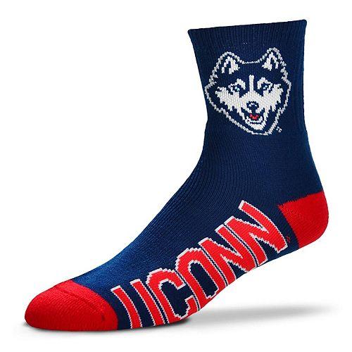 Adult For Bare Feet UConn Huskies Team Color Quarter-Crew Socks