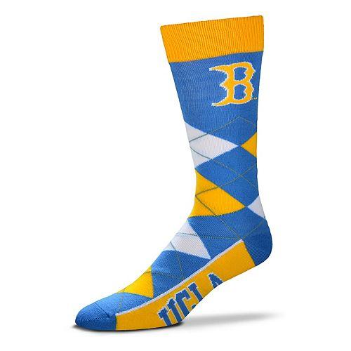 Adult For Bare Feet UCLA Bruins Argyle Line Up Crew Socks