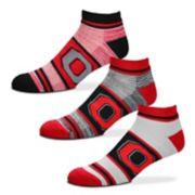 Adult For Bare Feet Ohio State Buckeyes 3-Pack Crew Socks