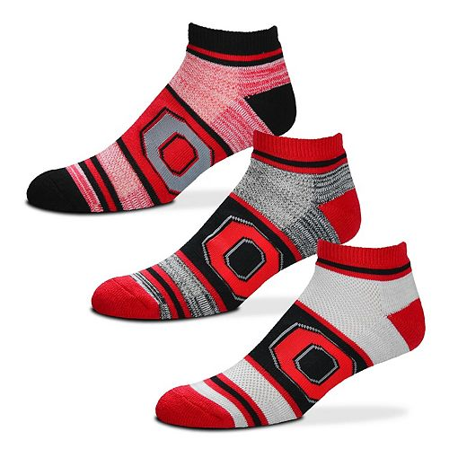 Adult For Bare Feet Ohio State Buckeyes 3-Pack Low-Cut Socks
