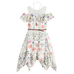 Girls 7-16 Knitworks Floral Cold-Shoulder Dress