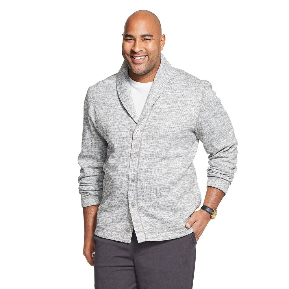 Men's Big & Tall Van Heusen Never Tuck Fleece Cardigan