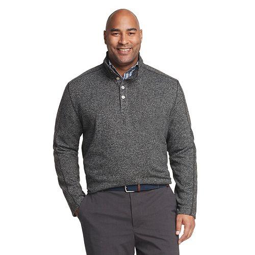 Big & Tall Van Heusen Flex Classic-Fit Mockneck Sweater