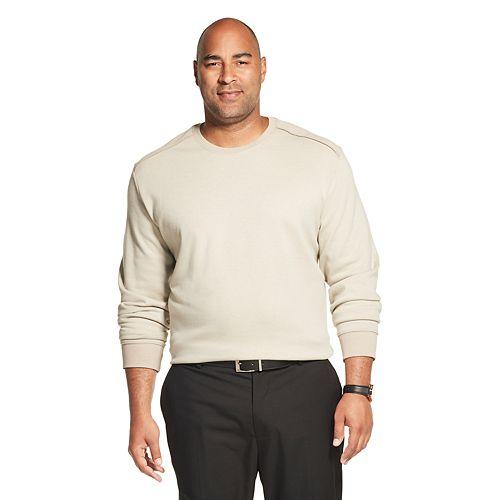 Big & Tall Van Heusen Flex Crewneck Fleece Pullover