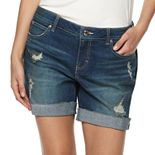 Women's Jennifer Lopez Boyfriend Denim Shorts