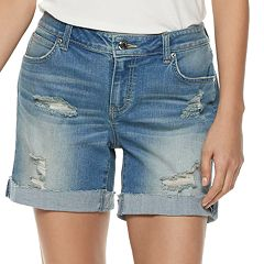 aba7bbcfc2007 Women's Jennifer Lopez Boyfriend Denim Shorts