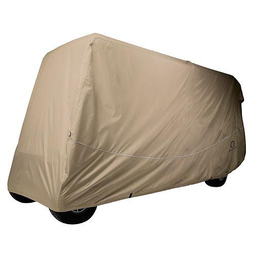 Classic Fairway Golf Cart Quick-Fit Khaki Extra Long Cover