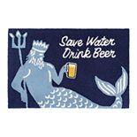 Liora Manne Frontporch Save Water, Drink Wine Indoor Outdoor Rug