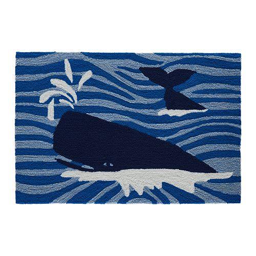 Liora Manne Frontporch Whalecome Indoor Outdoor Rug