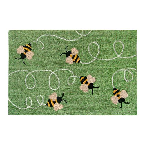 Liora Manne Frontporch Buzzy Bees Indoor Outdoor Rug