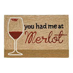 Liora Manne Frontporch You Had Me At Merlot Indoor Outdoor Rug