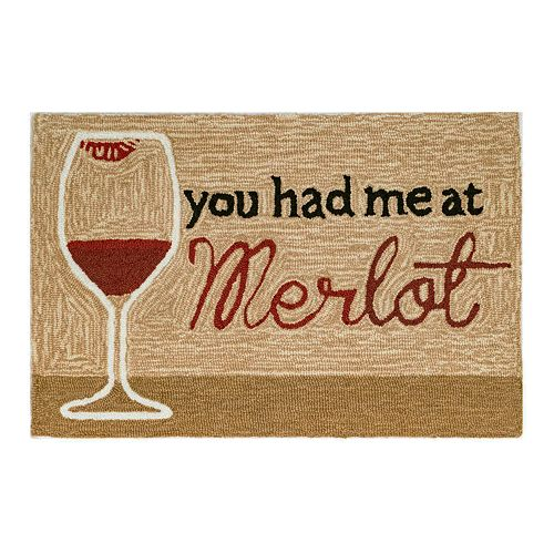 Liora Manne Frontporch You Had Me At Merlot Indoor Outdoor Rug