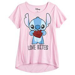 Girls 7-16 & Plus Size Disney Lilo & Stitch 'Love Bites' Stitch Valentine's Day Tee
