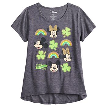 1c60df547 Girls 7-16 & Plus Size Disney Mickey & Minnie Mouse St. Patrick's Day  Graphic Tee