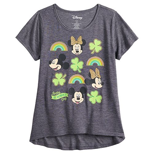 Girls 7-16 & Plus Size Disney Mickey & Minnie Mouse St. Patrick's Day Graphic Tee