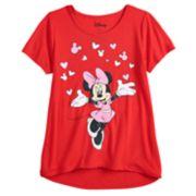 Girls 7-16 & Plus Size Disney Minnie Mouse Valentine's Day Graphic Tee