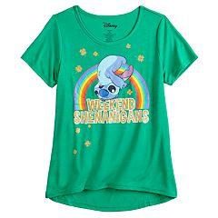 Girls 7-16 & Plus Size Disney Lilo & Stitch 'Weekend Shenanigans' St. Patrick's Day Tee