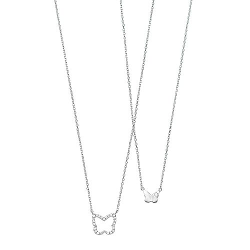 Cubic Zirconia Butterfly Necklace Set