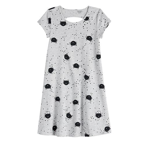Girls 4-12 Jumping Beans® Keyhole-Back Print Dress