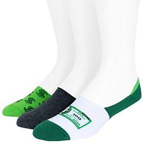 Men's SockTalk 3-pack Novelty Liner Socks