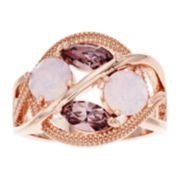 Brilliance Multi-Color Crystal Cluster Ring with Swarovski Crystals