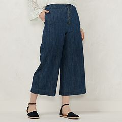 Women's LC Lauren Conrad Button Fly Crop Pants