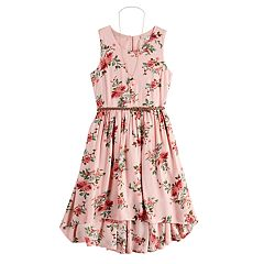 6d690f02fa92 Girls 7-16 Knitworks Floral High-Low Maxi Dress