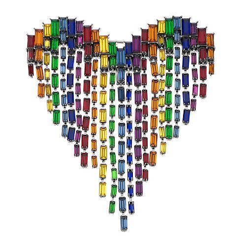 Simply Vera Vera Wang Rainbow Heart Pin