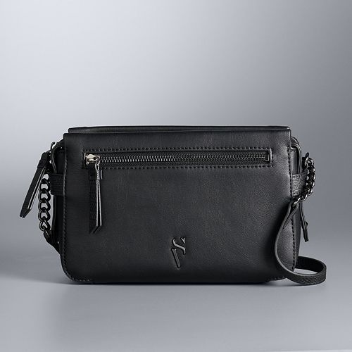 Simply Vera Vera Wang Faux-Leather Crossbody Bag
