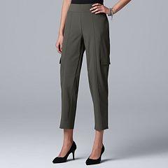 eecdaa22fdc Women s Simply Vera Vera Wang Everyday Movement Utility Pull-On Mid-Rise  Pants